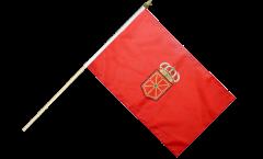 Stockflagge Spanien Navarra - 30 x 45 cm