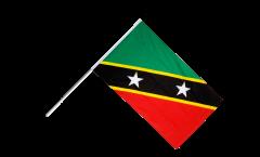 Stockflagge St. Kitts und Nevis