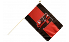 Stockflagge Sudetenland mit Wappen - 30 x 45 cm