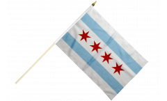 Stockflagge USA City of Chicago - 30 x 45 cm