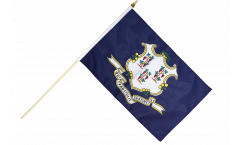 Stockflagge USA Connecticut - 30 x 45 cm