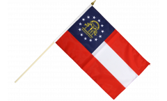 Stockflagge USA Georgia - 30 x 45 cm