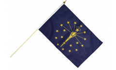 Stockflagge USA Indiana - 30 x 45 cm