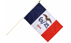 Stockflagge USA Iowa