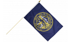 Stockflagge USA Nebraska - 30 x 45 cm