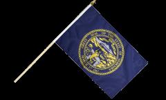 Stockflagge USA Nebraska