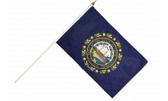 Stockflagge USA New Hampshire - 30 x 45 cm