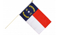 Stockflagge USA North Carolina - 30 x 45 cm