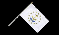 Stockflagge USA Rhode Island - 30 x 45 cm