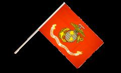 Stockflagge USA US Marine Corps