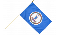 Stockflagge USA Virginia - 30 x 45 cm