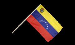 Stockflagge Venezuela 7 Sterne mit Wappen 1930-2006 - 60 x 90 cm