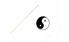 Stockflagge Ying und Yang, weiß - 60 x 90 cm