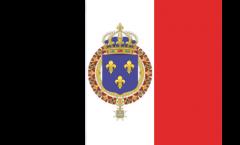 Aufkleber Frankreich mit königlichem Wappen - 7 x 10 cm