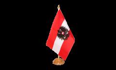 Tischflagge Österreich mit Adler