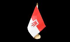 Tischflagge Österreich Vorarlberg - 10 x 15 cm