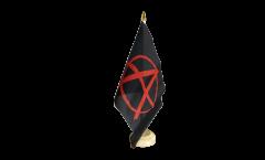Tischflagge Anarchy Anarchie rot - 15 x 22 cm