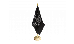 Tischflagge Baphomet Church of Satan - 15 x 22 cm