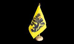 Tischflagge Belgien Flandern - 10 x 15 cm