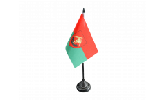 Tischflagge Belgien Stadt Brüssel - 10 x 15 cm