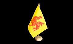Tischflagge Belgien Wallonien - 10 x 15 cm