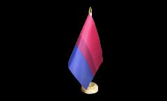Tischflagge Bi Pride