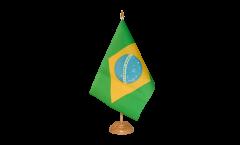 Tischflagge Brasilien - 10 x 15 cm