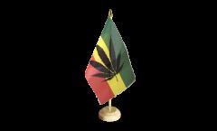 Tischflagge Cannabis Reggae - 15 x 22 cm