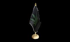 Tischflagge Cannabis schwarz - 15 x 22 cm