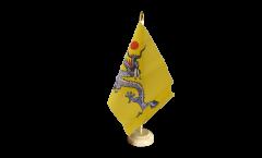 Tischflagge China Qing Dynastie - 15 x 22 cm