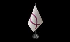 Tischflagge Christenfisch Ichthys-Symbol - 10 x 15 cm