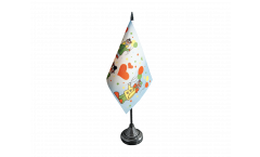 Tischflagge Clowns Karneval - 10 x 15 cm