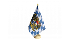 Tischflagge Deutschland Bayern Freistaat - 15 x 22 cm