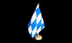 Tischflagge Deutschland Bayern ohne Wappen - 15 x 22 cm