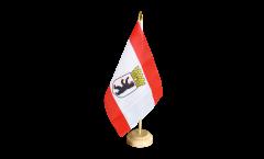 Tischflagge Deutschland Berlin mit Krone - 15 x 22 cm