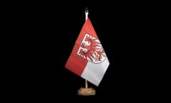Tischflagge Deutschland Brandenburg - 15 x 22 cm
