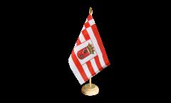 Tischflagge Deutschland Bremen - 15 x 22 cm