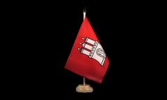 Tischflagge Deutschland Hamburg - 10 x 15 cm