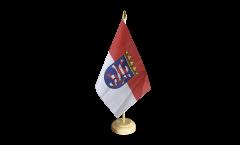 Tischflagge Deutschland Hessen - 15 x 22 cm