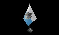 Tischflagge Deutschland Königreich Bayern 1806-1918 - 10 x 15 cm