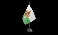 Tischflagge Deutschland Königreich Sachsen 1806-1918 - 10 x 15 cm