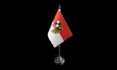 Tischflagge Deutschland Mittelfranken - 10 x 15 cm