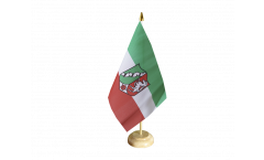 Tischflagge Deutschland Nordrhein-Westfalen - 15 x 22 cm