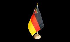 Tischflagge Deutschland Rheinland-Pfalz - 15 x 22 cm