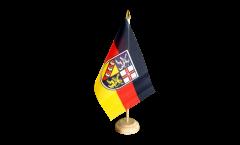 Tischflagge Deutschland Saarland - 15 x 22 cm