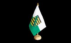 Tischflagge Deutschland Sachsen - 10 x 15 cm