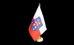 Tischflagge Deutschland Thüringen - 15 x 22 cm