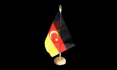 Tischflagge Deutschtürken deutsch-türkische Freundschaft - 15 x 22 cm