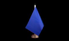 Tischflagge Einfarbig Blau - 15 x 22 cm