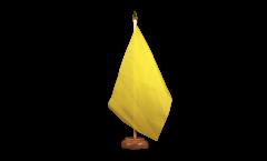 Tischflagge Einfarbig Gelb - 15 x 22 cm